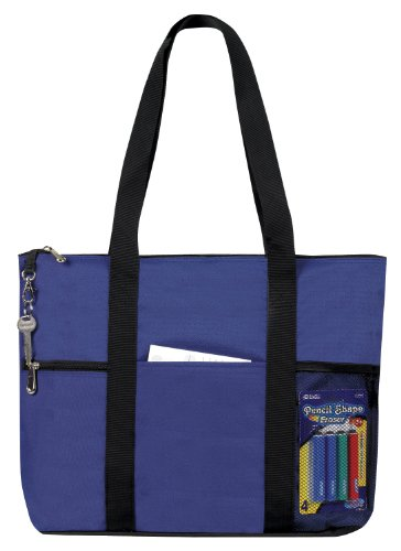 Zipper Travel Tote Sports Gym Bag Royal Navy by BAGS FOR LES