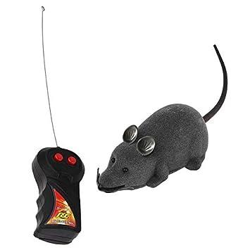 Candybush Juguete Rat Rat para Gato, Control Remoto inalámbrico Ratón Rat Ratón electrónico para Gatos de Entrenamiento para Juguetes interactivos para ...