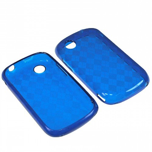 AM TPU Sleeve Crystal Gel Cover Skin Case for AT&T ZTE Avail Z990 -Blue Checker ()
