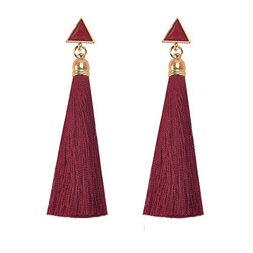 Stamping Tassel Earrings Drop Earrings Bohemian Long Dangling Earrings Fashion Jewelry for Womens