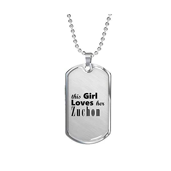 Zuchon - Luxury Dog Tag Necklace Lover Owner Mom Birthday Gifts Jewelry 1