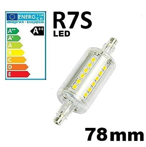 Live-cable-Direct lineal R7S 78 mm Bombilla tipo tubo foco LED de luz blanca cálida de bombillas J78: Amazon.es: Iluminación