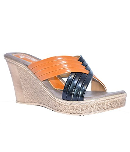9822893e6 Ajanta Women s Multicolor Synthetic Wedges (ML0648080001-8) - 8 UK ...