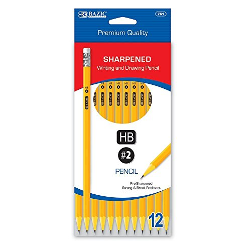 BAZIC Pre-Sharpened #2 Premium Yellow Pencil (12/Pack)(Case of 144) by Bazic