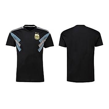 mqtwer 2018 Mangas Cortas De Hombres Y Mujeres Rusos Brasil México Equipo De Fútbol Argentina Portugal Camiseta, L, Hombres Negros En Argentina: Amazon.es: ...
