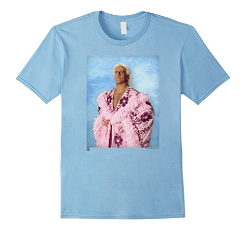 Ric Flair Robe (Mens WWE Ric Flair Pink Robe Blue Background Photo Large Baby Blue)