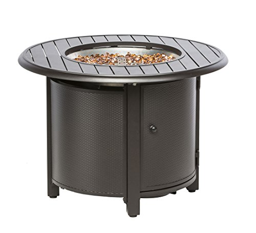 """Alfresco Home Bay Ridge 36"""" Round Gas Fire Pit/Chat Table with Burner Kit"""