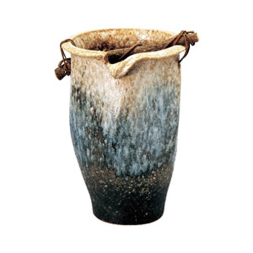 傘立て(信楽焼) 白窯手桶傘立 置物 インテリア かわいい カフェ 縁起物 業務用 B00KMT82OK