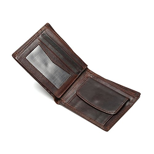 H&W Bifold Leder Brieftasche Mit Münze Tasche Foto Slot
