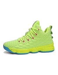 XSGE - Zapatillas de Baloncesto para Hombre, Transpirables, Antideslizantes, Color Verde y Morado