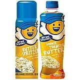 Kernel Season's 100% Natural Butter Spritzer 4oz & Movie Theater Butter Oil 13.75 Oz for Popcorn