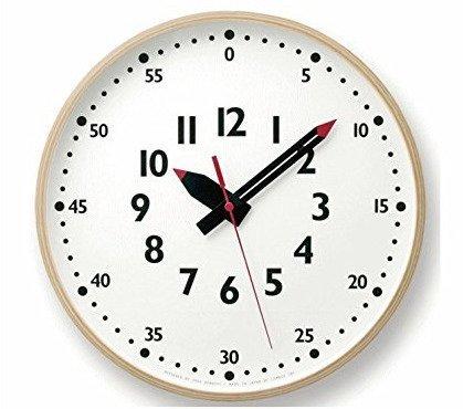 fun pun clock ふんぷんくろっく Lサイズ YD14-08 L 壁掛け時計 クロック レムノス 子供部屋 可愛い B07BNYVVSB