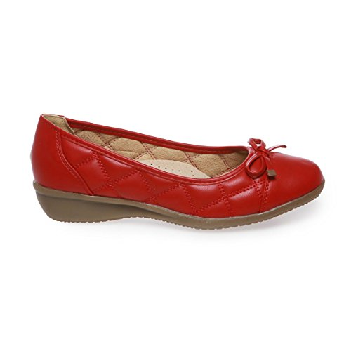 La Modeuse - Bailarinas para mujer Rojo