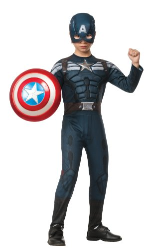 [Rubies Captain America: The Winter Soldier Deluxe Stealth Suit Costume, Child Small] (Captain America Boys Costumes)