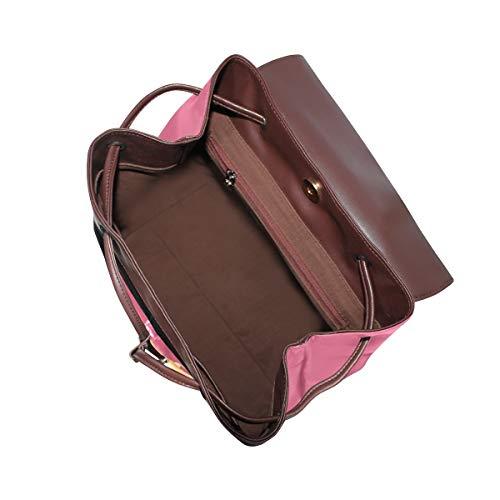Kvinnor PU-läder snigel färg natur djur färgglad ryggsäck handväska resa skola axelväska ledig dagväska