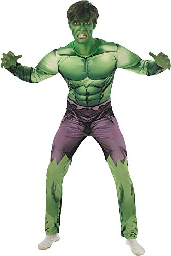 Rubie's Official Marvel Hulk Deluxe, Adult Costume - X-Large ()