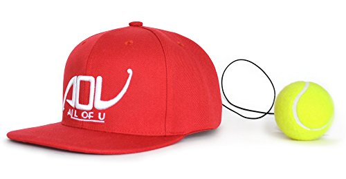 Fight Ball Reflex,Reaction Speed Practice, Punch Exercise For Boxing,MMA,Martial Arts,Tae kwon do Anti-Stress/Anti-anxiety and Depression Ball Hat With String (red) (22' Kick Super)