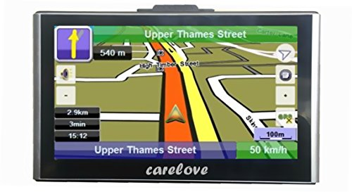Bluetooth Capacitive Touch Screen 7 Inch Car GPS Navigation 8G Pre-installed North America Maps Lifetime Free Map Update