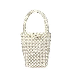 Women's Pearl Beaded Crystal Tote Bag