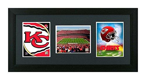 NFL. Kansas City Chiefs Framed Kansas City Chiefs NFL 3 In 1 Showcase. Helmet, Field & Logo by Skyway Gallery