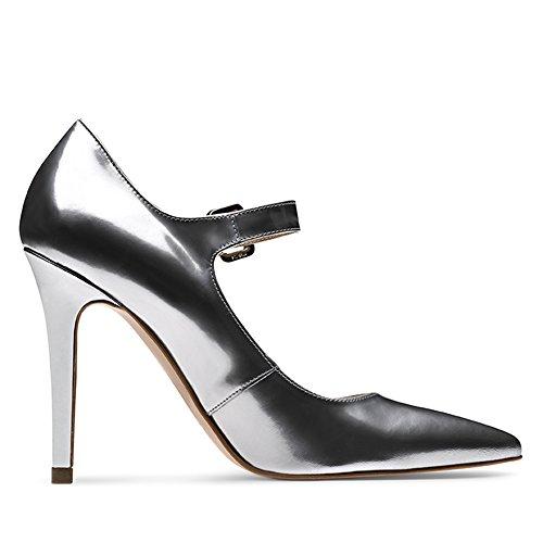 Evita Shoes - Zapatos de vestir de Piel para mujer Plateado - plateado