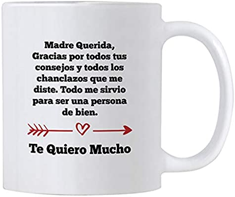 Casitika Regalos para Mama. Tazas para Cafe de Dia de Madres de 11 oz. Querida Madre Mug for Mothers Day in Spanish. Gifts for Latin Mom for Birthday.