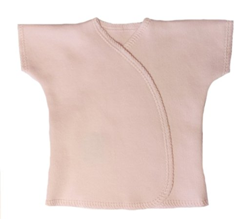 Jacqui's Unisex Baby Light Pink Short Sleeve Kimono T-Shirt, Preemie