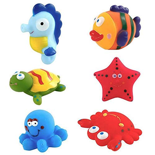 Liberty Imports Water Bath Squirties - Fun Floating Squeeze and Squirt Bathtub Squirters - Ideal Toys for Kids, Babies, Toddlers Bathtime (Sea Creatures)