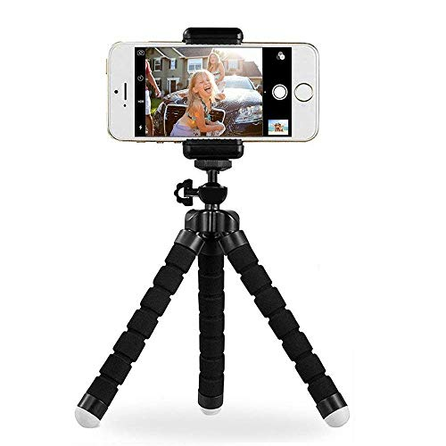Digital Phone Tripod, Portable and Adjustable Camera Stand Holder Universal Clip for iPhone, Android Phone, Cam and Sports Camera Go Pro, Self Timer for Selfie