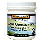 AQUA GREENS SPIRULINA & CHLORELLA 200G POWDER
