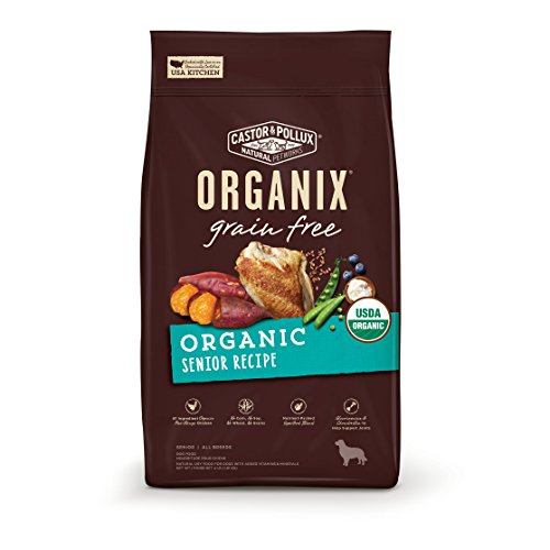 - Castor & Pollux Organix Grain Free Organic Senior Recipe Dry Dog Food  10Lb