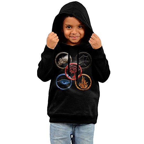 Divergent Erudite Costume (FGFD Kids Insurgent Divergent 5 Symbol Boy's & Girl's Hooded Sweatshirt Black Size 2 Toddler)