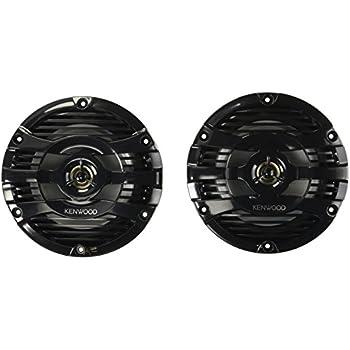 """Kenwood 6.5"""" Black Marine 2 Way Speakers 150 Watts"""