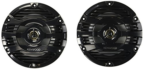 Kenwood 6.5'' Black Marine 2 Way Speakers 150 Watts by Kenwood