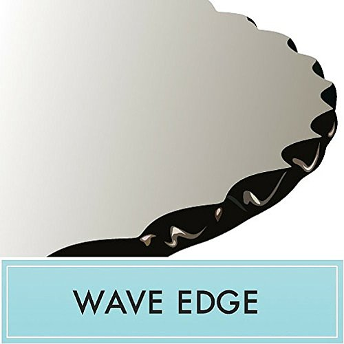 30'' Round Glass Table Top 1/2'' Wave Edge by Spancraft Glass