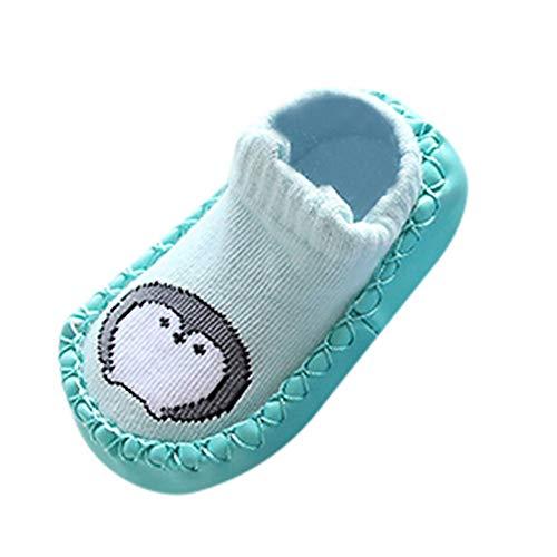 HP95 Anti Slip Slipper Socks - Cartoon Non Skid Socks Shoes Soft Sneaker for Toddlers Girls Boys,Great Gift to Baby (Age:12-18M, Green)