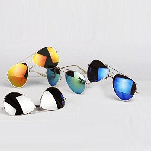 Silver Mirror Lens Aviator Sunglasses Cop Pilot Shades Patriotic (4 Pack Assorted Lens, - Cop Sun Glasses