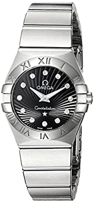Omega Women's 123.10.24.60.51.001 Constellation 09 Brushed Black Dial Watch from Omega