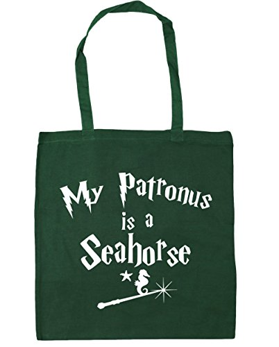 Seahorse Is A My 42cm Green HippoWarehouse Bottle Beach x38cm Tote litres 10 Bag Gym Patronus Shopping EqtIxw