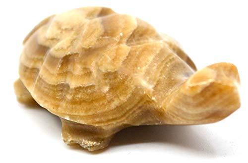 Earthen Brown Onyx Aragonite Turtle, 1.75