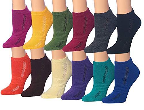 Tipi Toe Women's 12-Pairs Low Cut Athletic Sport Peformance Socks, ()
