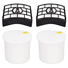 EcoMaid HEPA, Foam & Felt Filters for Shark Rotator Pro Lift-Away NV650 NV651 NV652 NV750 NV751 NV752 NV753 Part # XFF650 & XHF650