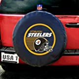 spare tire cover steelers - Pittsburgh Steelers NFL Spare Tire Cover (Black)