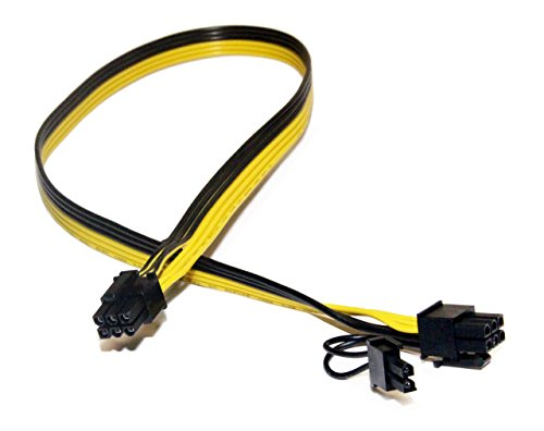 PCIe 6 Pin Male to 8 Pin (6+2) Male PCI Express Power Adapter Cable for Graphics Video Card 20-inches TeamProfitcom