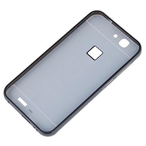 Huawei G7 Funda de movil - TOOGOO(R)Aluminio Metal Tope Cubierta PC Funda trasera para HUAWEI G7 Negro