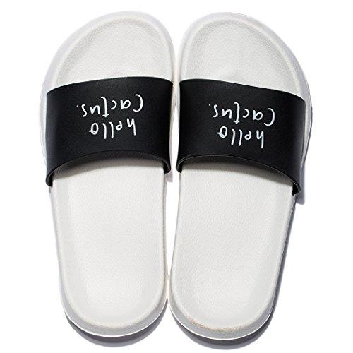 Chaussures Sandales Douche De Femmes Noir On Pantoufles Piscine Blanc House Antidrapantes Et Slip Douces Impermables Mayi wHXzqBA