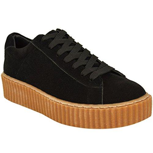 Fashion Thirsty Womens Creeper Sneakers Trainers Plimsolls Platform Fashion Shoes Size 6