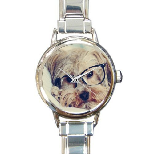 Hot Sale Christmas Gift Watch Labrador Retriever Dog Art Round Italian Charm stainless steel Watch Dogs Womans Italian Charms