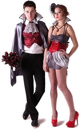Disfraz de pareja de vampiros - S: Amazon.es: Juguetes y juegos