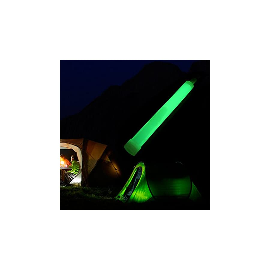 Onpiece 10Pcs Industrial Grade Glow Sticks Ultra Bright SnapLights with 12 Hour Duration